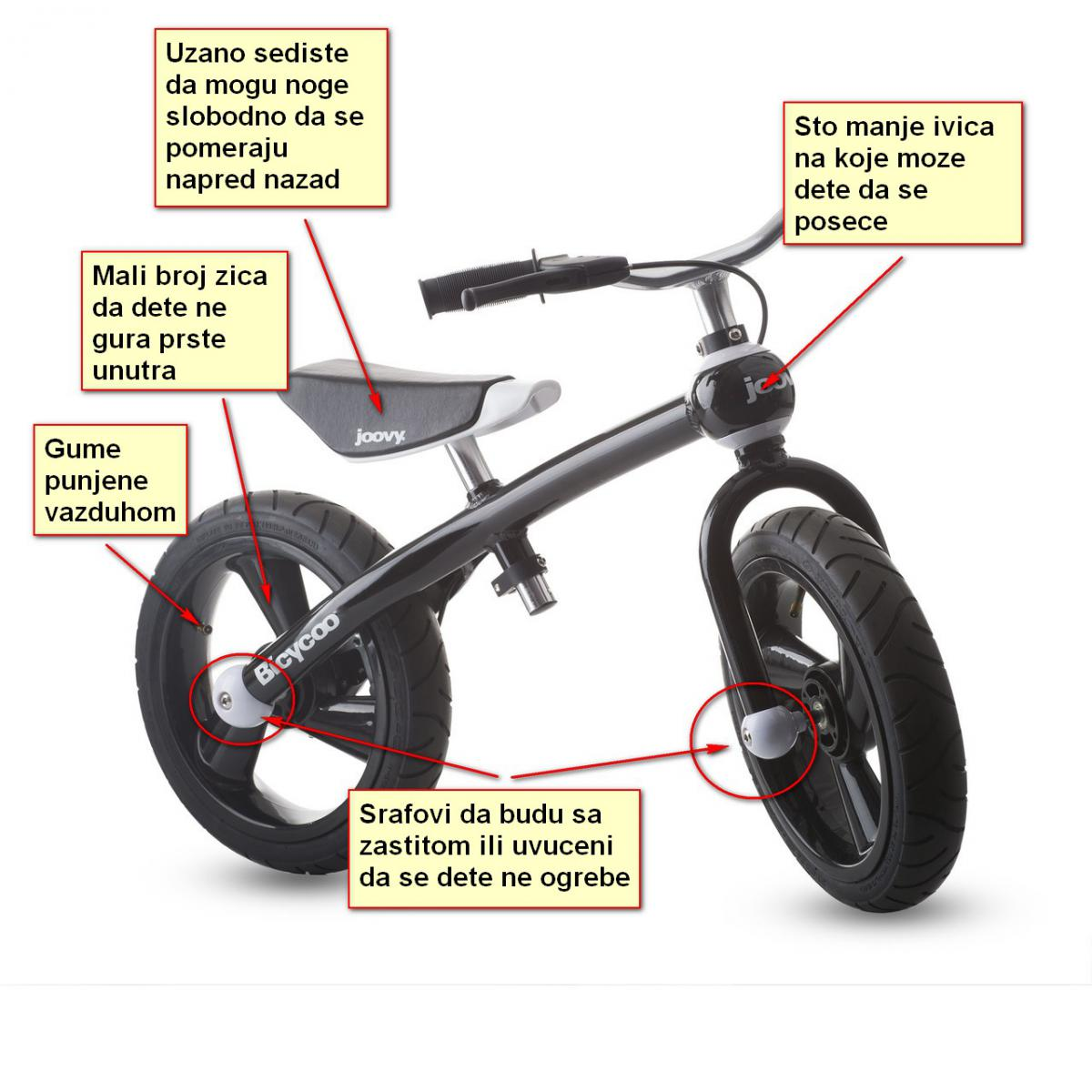 Naučite dete da vozi koristeći balans bicikl - Trening