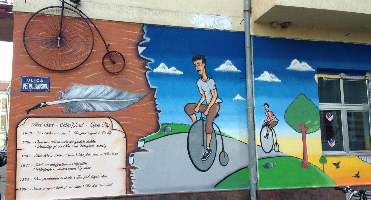 Novi sad dobio mural posve en biciklistima for Mural u vukovarskoj ulici